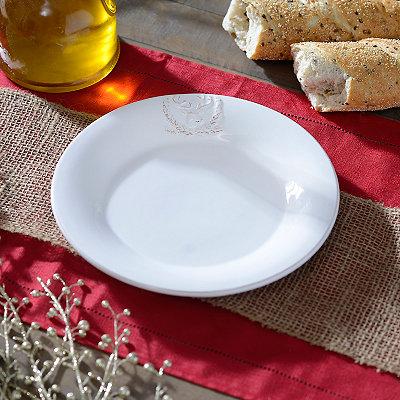 White Deer Salad Plate