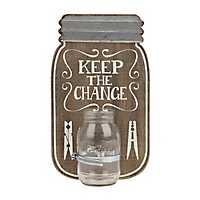 Keep the Change Mason Jar Plaque