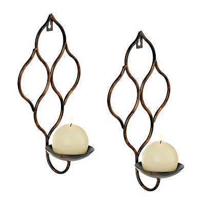 Bronze Teardrop Sconces, Set of 2