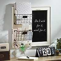 Chalkboard and Baskets Wall Organizer