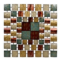 Santorini Embossed Tiles Metal Plaque