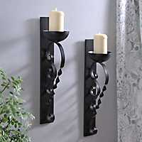 Twisted Pillar Sconce, Set of 2