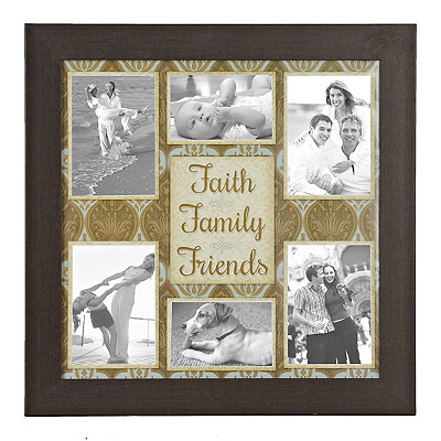 Faith, Family, Friends 6-Opening Collage Frame