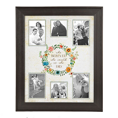 So She Did Collage Frame