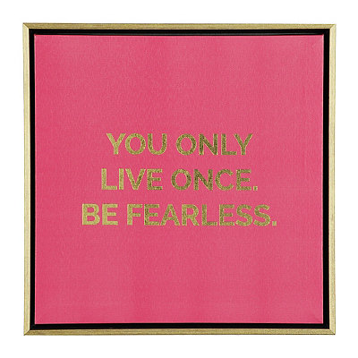 Be Fearless Framed Canvas Plaque