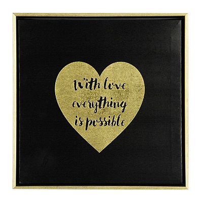 Everything is Possible Framed Canvas Plaque