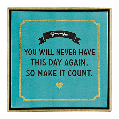 Make It Count Framed Canvas Plaque