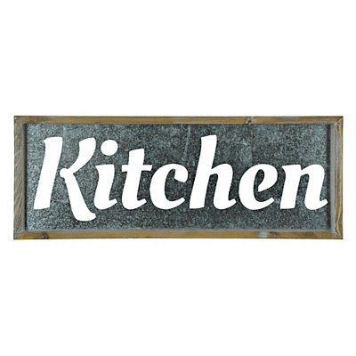 Galvanized Kitchen Wall Plaque