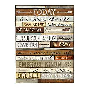 Brand New Day Wood Plank Plaque