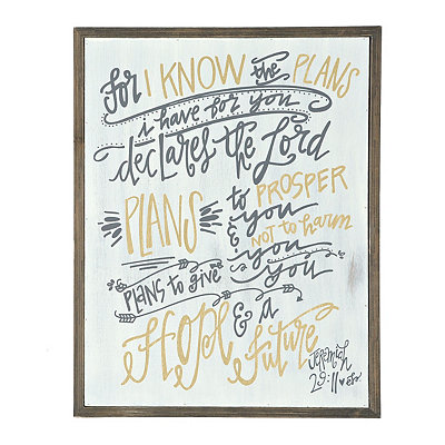 For I Know The Plans Barnwood Plaque