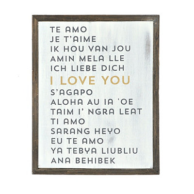 Love Languages Barnwood Wall Plaque
