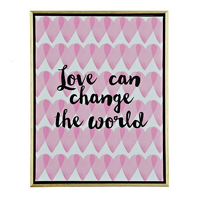 Love Can Change the World Framed Canvas Plaque