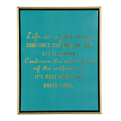 Life is a Journey Framed Canvas Plaque