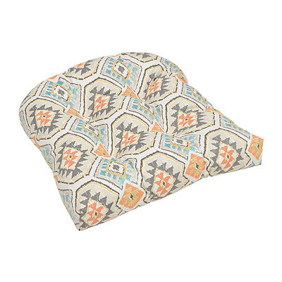 Aztec Aqua and Spice Outdoor Cushion
