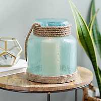 Aqua Diepre Lantern with Rope Handle