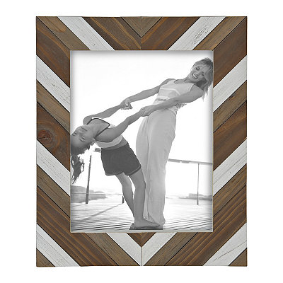 Chevron Wood Plank Picture Frame, 11x14