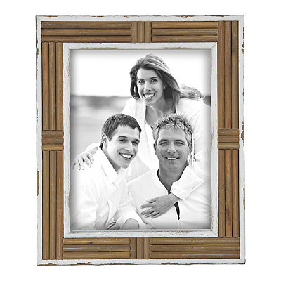 Distressed Natural Wood Plank Picture Frame, 11x14
