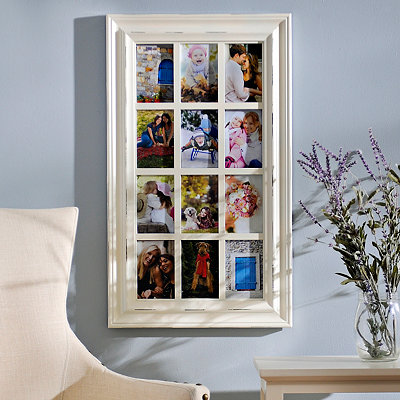 Savannah Distressed Cream 12-Opening Collage Frame