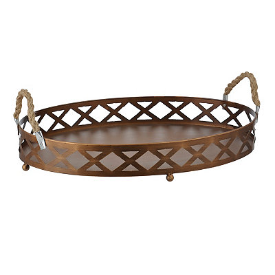 Bronze Lattice and Rope Tray