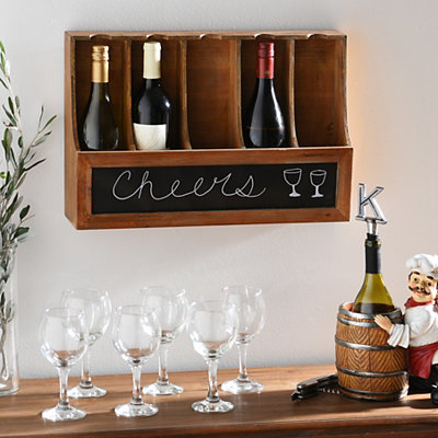 Wooden Chalkboard Wine Bottle Holder