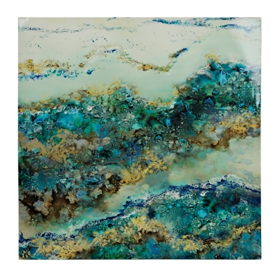 Blue and Gold Geode Canvas Art Print