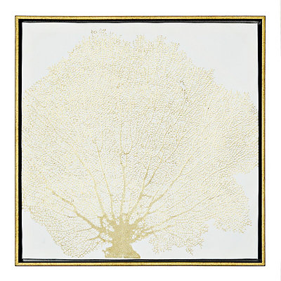 Gold Sea Fan Coral Canvas Art Print