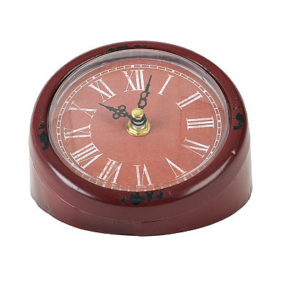 Red Mia Tabletop Clock
