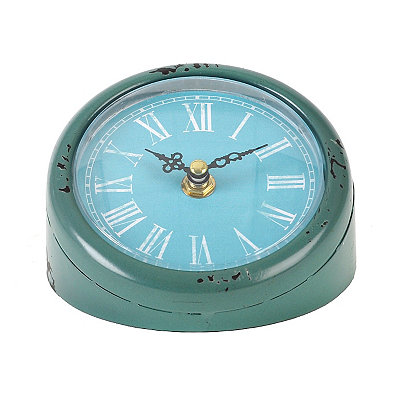 Turquoise Mia Tabletop Clock