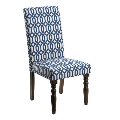 Navy Lattice Parsons Chair
