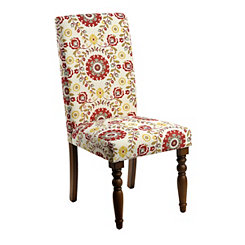 Persimmon Floral Parsons Chair