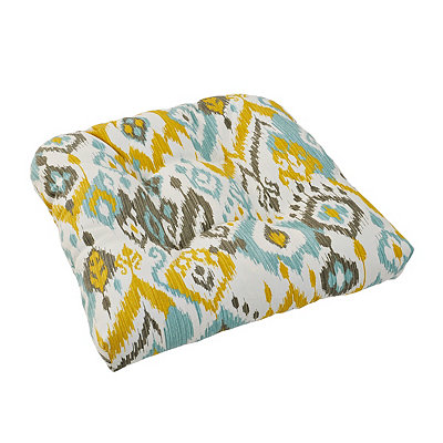 Blue and Yellow Outdoor Cushion