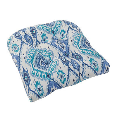 Losani Blue Ikat Outdoor Cushion