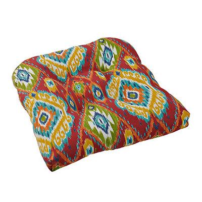 Losani Red Ikat Outdoor Cushion