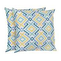 Diamond Lattice Outdoor Accent Pillows, Set of 2