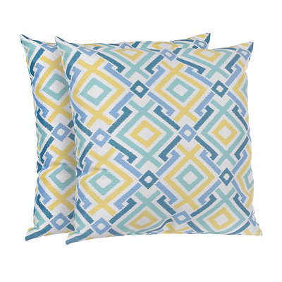 Diamond Lattice Outdoor Accent Pillows, Set of 2