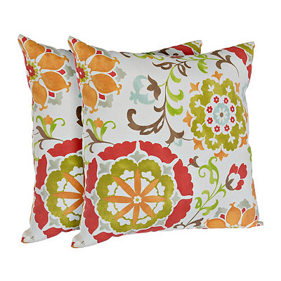 Primavera Floral Outdoor Accent Pillows, Set of 2