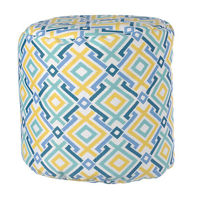 Diamond Lattice Outdoor Pouf
