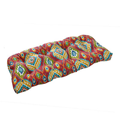 Losani Red Ikat Outdoor Settee Cushion