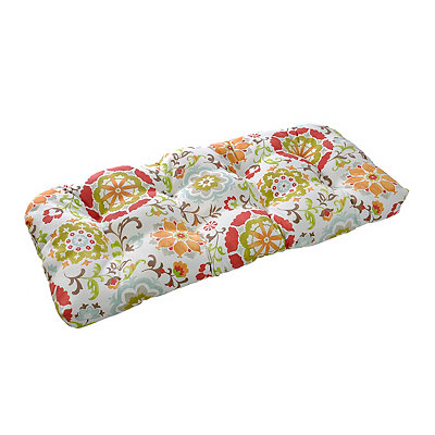 Primavera Floral Outdoor Settee Cushion