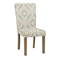 Aqua Ikat Parsons Chair