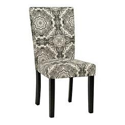 Black & White Medallion Parsons Chair
