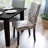 Black & White Medallion Parsons Chair