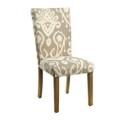 Fog Gray Ikat Parsons Chair