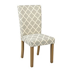 Soft Blue Trellis Parsons Chair