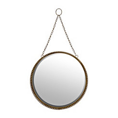 Gold Filigree Hanging Round Mirror
