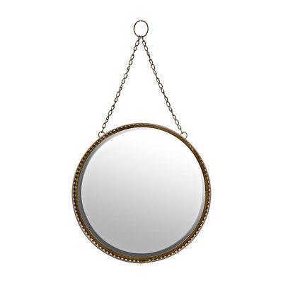 Gold Filigree Hanging Round Mirror