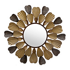 Mixed Metallic Bloom Mirror