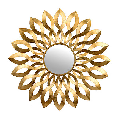 Josie Gold Bloom Mirror, 39.5 x 39.5