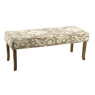 Fog Gray Ikat Heidi Bench