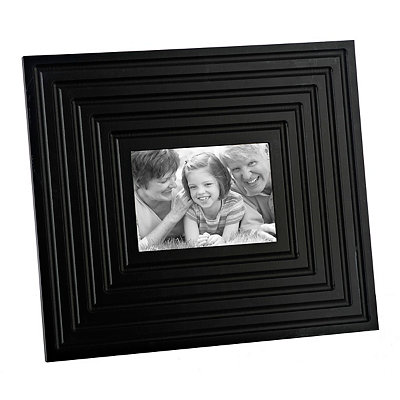 Black Beveled Picture Frame, 5x7